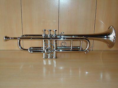 STUDENT SALE! NEW SILVER NICKEL Bb TRUMPET+FREE HARD CASE+MOUTHPIECE+FAST SHIP