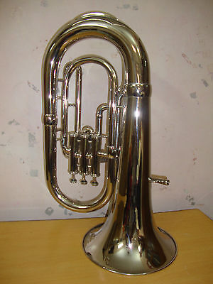 GREAT SALE! NEW SILVER Bb FLAT EUPHONIUM WITH FREE HARD CASE+MOUTHPIECE