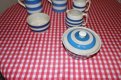 Blue And White Cornish Ware Pottery Mixed Lot