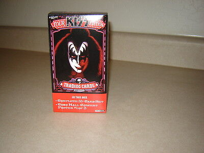 Brand New KISS Tour Trading Card Set of 33 Cards w/small poster inside    Sealed