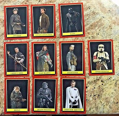 2016 Topps Star Wars: Rogue One Mission Briefing New York Comic Con Set Sc