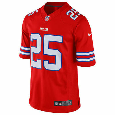 Nike Men's Small Buffalo Bills LeSean McCoy Nike Red Color Rush Limited Jersey