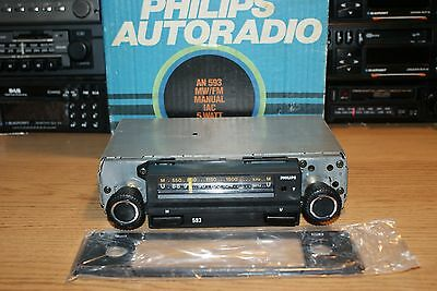 NEW Philips AN593 Vintage 70s Car Radio BOXED NOS Warranty Ford Mini VW MG BMW