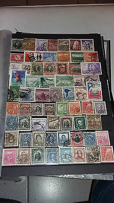 64 Timbres Obliteres Chili Lot N