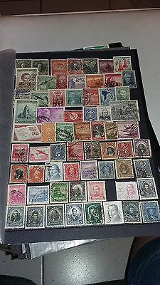 65 Timbres Obliteres Chili Lot N1