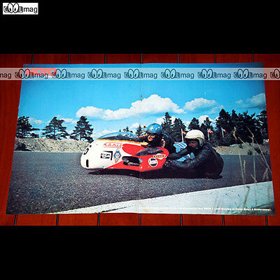 JEFF GAWLEY & PETER SALES à ANDERSTORP 1974 Side-Car - Poster Pilote MOTO #PM804