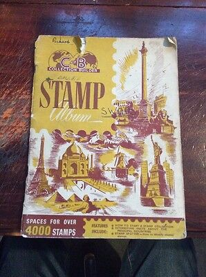Old Stamp Album With Loads Of Old Stamps