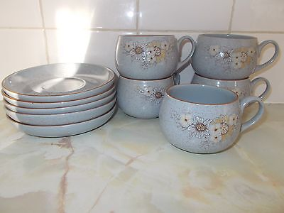 Denby/Langley REFLECTIONS 5 cups 5 saucers
