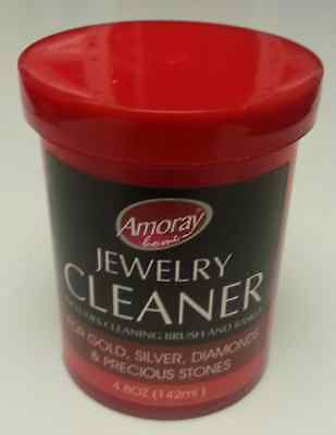 JEWELRY CLEANER SOLUTION - SAFELY CLEANS ALL JEWELRY GOLD SILVER DIAMONDS 4.8 oz