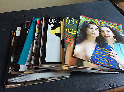 Lesbian magazines - 'On Our Backs' back issues