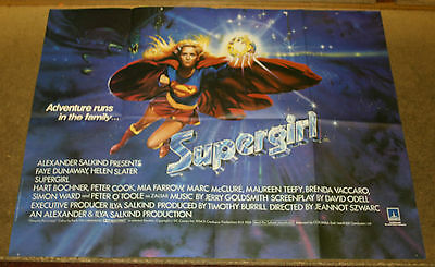 SUPERGIRL 1984 Original UK quad cinema poster
