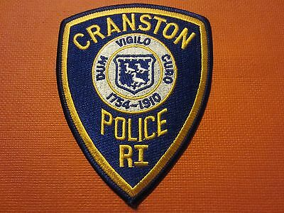 Collectible Rhode Island Police Patch Cranston New
