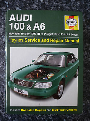 Haynes Manual for Audi 100 & A6. '91 - '97. (H to P Reg). Used