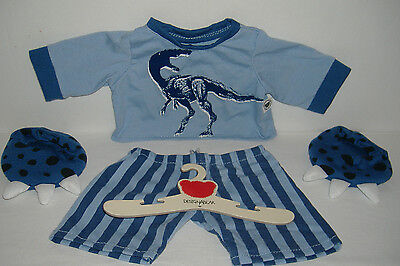 Chad Valley Design-a -Bear Complete Dinosaur Set with Slippers and Hangar