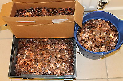 9 Kg BULK LOT of USA 1 cent genuine US American coins