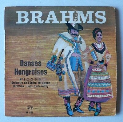 "Brahms - Danses Hongroises - International Guild du Disque (France) - 7"" single"