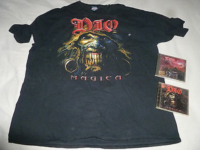 Ronnie James Dio Cd Concert Shirt Lot Magica Lock Up The Wolves Black Sabbath