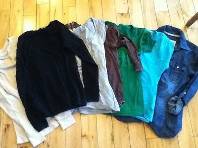 Womens Small Tops Lot Of 7 Sweaters Shorts Tees Old Navy ANA Loft So Maurices S