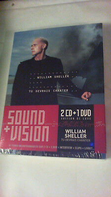 "Coffret WILLIAM SHELLER ""tu devrais chanter"" (  2 CD + 1 DVD ), ... NEUF ..."