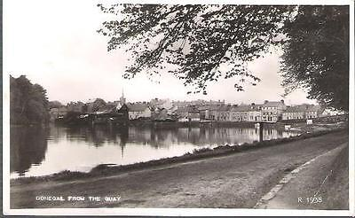 Donegal Town, Donegal, Ireland - from quay - real  photo postcard 1961 pmk