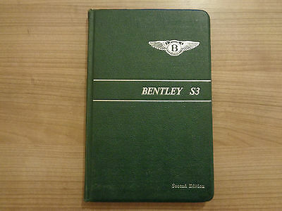 Bentley S3 Owners Handbook/Manual Second Edition