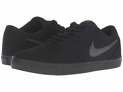 Nike Sb ® Check Solar Black Anthracite Canvas Men's Shoes  New* 843896 002
