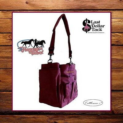 Horseman's Handy Grooming Caddy Bag ~ Ideal For Shows Travel Or Stable ~Burgundy