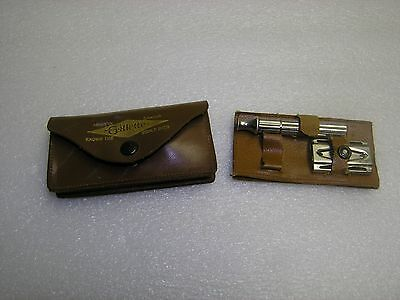 Vintage Gillette Razor 1932, Mirror and leather Pouch