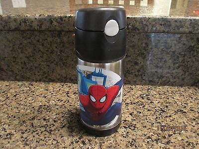 THERMOS Spiderman Funtainer Bottle Sippy Cup Straw Stainless 12 oz boy Marvel