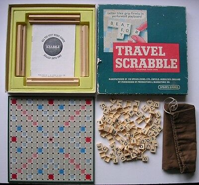 Vintage Travel Scrabble Set from 1960s