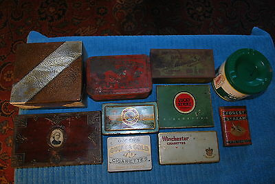 Vintage Lucky Strike Players Irving Tobacco Cigar Advertising Tins