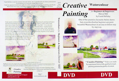 Watercolour Painting DVD How to paint Denver Mill Norfolk Frank Halliday 2004