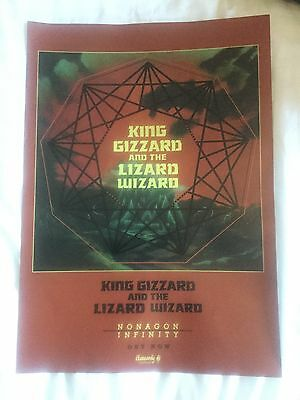 King Gizzard & The Lizard Wizard - Nonagon Infinity   Promo poster -mint