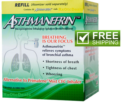 Asthmanefrin Asthma Medication Refill 30 vials Exp Date  * 12-2019 or later *