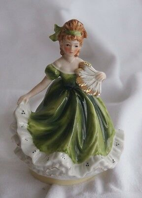 ROTATING MUSICAL FIGURINE: Victorian Lady