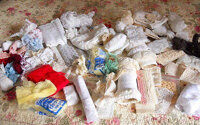 Large Lot Vintage  Lace Trim  Dolls Bears Sewing Crafts