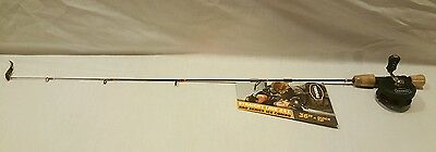 "New Frabill 6858 Straightline 241 Bro Series Ice Combo 36"" Quick Tip Rod Reel"