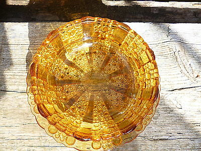Dish Glass Amber Boopie Bubble
