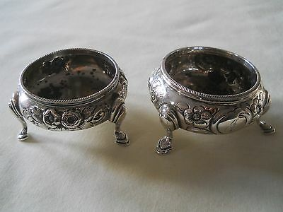 VINTAGE 925 RH Sterling Footed Salt Pepper Cellars