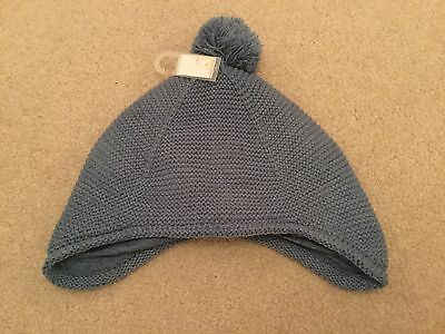 Boys or girls Next blue bobble hat BNWT size 12 - 18 months