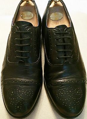Royal Windsor by Grenson Mens Black Leather Shoes size 8.5