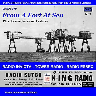 Pirate Radio - 'From A Fort At Sea' (DVD MP3) The Early Fort Broadcasts (16hrs)