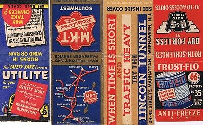 Vintage Advertising Matchbooks - 4 Matchbook Covers - Automotive Related Lot (b)