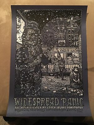 Widespread Panic 9/9 9/10/16 Variant Poster Brooklyn Ny Freak Show David Welker!