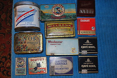 Vintage British Consols Daily Mail Player's Tobacco Cigarette Advertising Tins