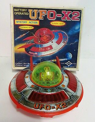 Ufo-X2 Flying Saucer - Vintage Japanese Space Toy - Spares /repair