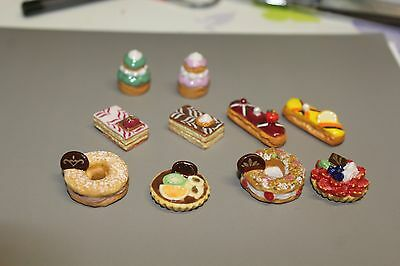 SERIE COMPLETE 10 FEVES DUOS GOURMAND patisserie 2017