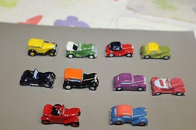 Serie Complete 10 Feves Voitures Retromobiles 2017