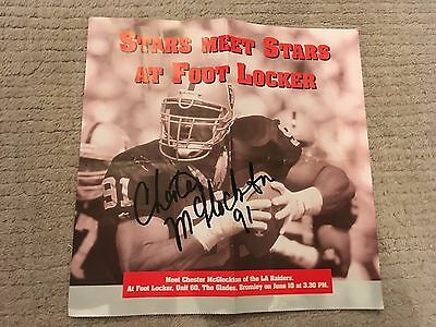 Signed Picture of the late Chester McGlockton of LA Raiders