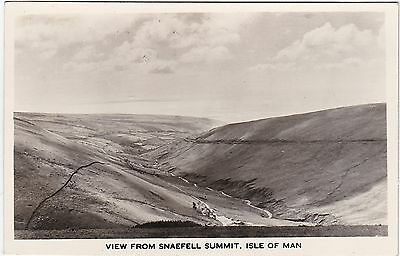 View From Summit With June 1961 Cachet, SNAEFELL, Isle Of Man RP